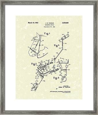 Hackamore Bridle 1953 Patent Art Framed Print by Prior Art Design