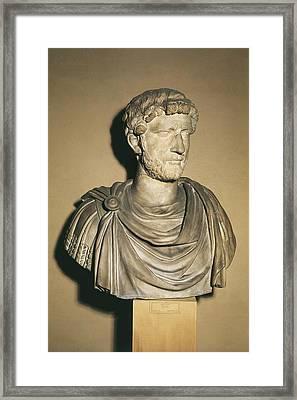 Hadrian 76-138. Roman Emperor 117-138 Framed Print by Everett