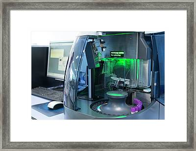 Haematology Laboratory Framed Print by Aberration Films Ltd
