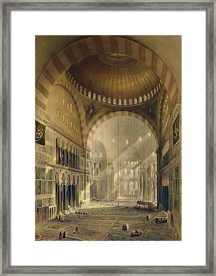 Haghia Sophia, Plate 24 Interior Framed Print by Gaspard Fossati