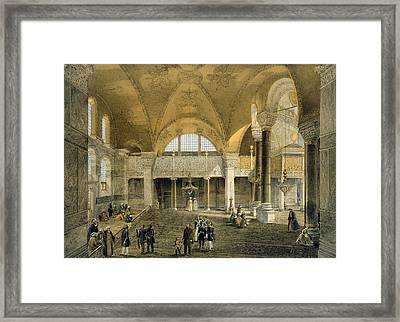 Haghia Sophia, Plate 9 The New Imperial Framed Print by Gaspard Fossati