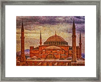 Hagia Sophia Digital Painting Framed Print by Antony McAulay