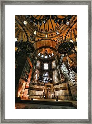 Hagia Sophia Interior Framed Print by Stephen Stookey