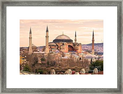 Hagia Sophia Mosque - Istanbul Framed Print by Luciano Mortula