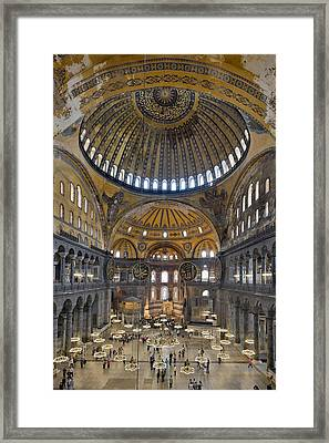 Hagia Sophia Museum In Istanbul Turkey Framed Print by Ayhan Altun