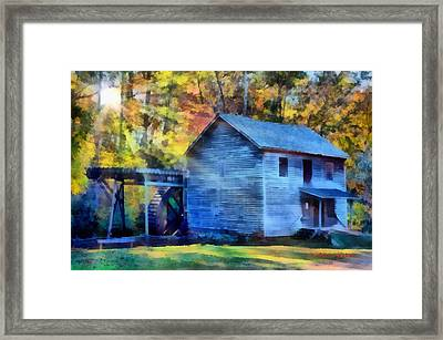 Hagood Mill With Sunrays Framed Print by Lynne Jenkins
