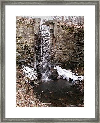 Hagy's Paper Mill Waterfall Framed Print by Bill Cannon