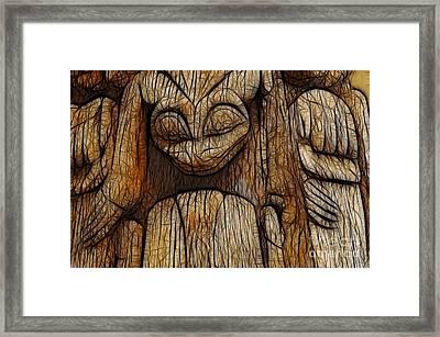 Haida Totem Framed Print by Bob Christopher