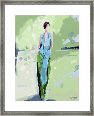 Haider Ackermann Fashion Illustration Art Print Framed Print by Beverly Brown Prints