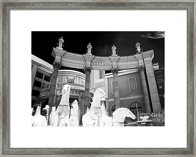 Hail Caesars Framed Print by John Rizzuto