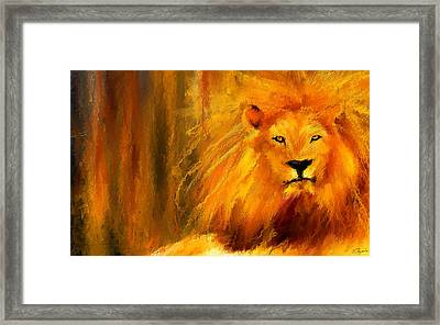 Hail The King Framed Print by Lourry Legarde