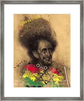 Haile Selassie Framed Print by Zaafra David