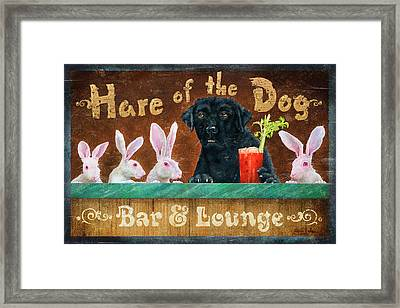 Hair Of The Dog Framed Print by JQ Licensing