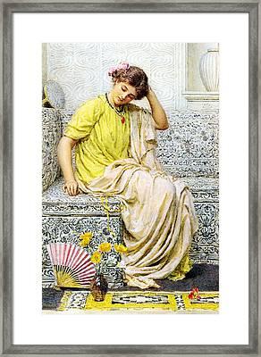 Hairpins Framed Print by Albert Joseph Moore