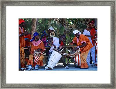 Haitian Drummers Framed Print by David Coleman