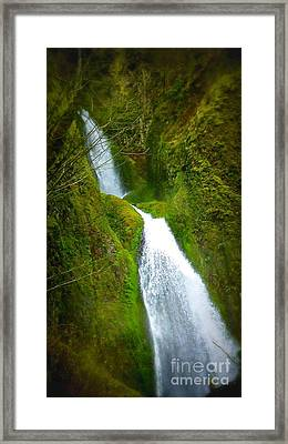 Hakeena Falls Long Framed Print by Susan Garren