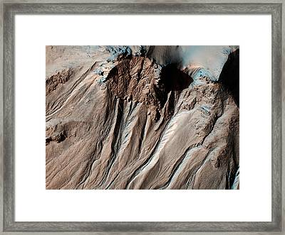 Hale Crater In Mars Framed Print by Celestial Images