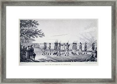Hale On His Way To Execution Framed Print by British Library