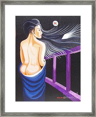 Hale Popp Hand Embroidery Framed Print by To-Tam Gerwe