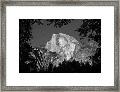 Half Dome Black And White Framed Print by Pierre Leclerc Photography
