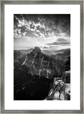 Half Dome In Black And White Framed Print by Mike Lee