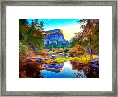 Half Dome Reflection Framed Print by Michael Pickett