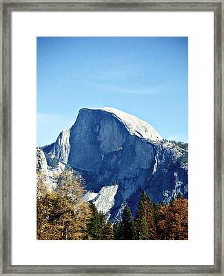 Half Dome Framed Print by Richard Reeve