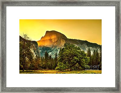 Half Dome Sunrise Framed Print by Az Jackson
