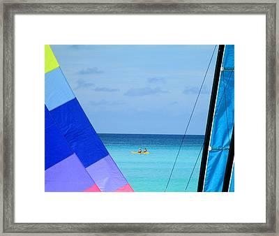 Half Moon Cay Framed Print by Randall Weidner