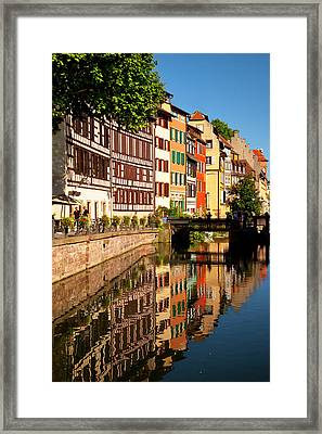 Half-timbered Buildings Reflected Framed Print by Brian Jannsen