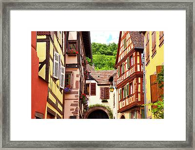 Half-timbered Homes Along A Street Framed Print by Brian Jannsen