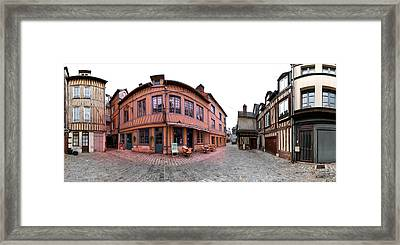 Half-timbered Houses, Pont-audemer Framed Print by Panoramic Images