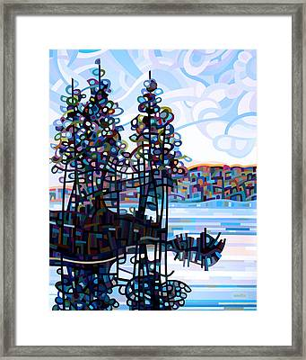 Haliburton Morning Framed Print by Mandy Budan