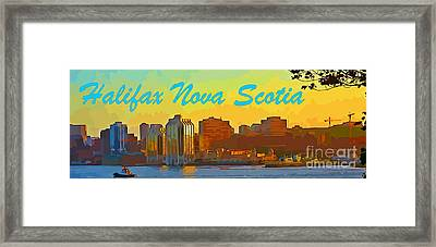 Halifax Nova Scotia Poster Framed Print by John Malone