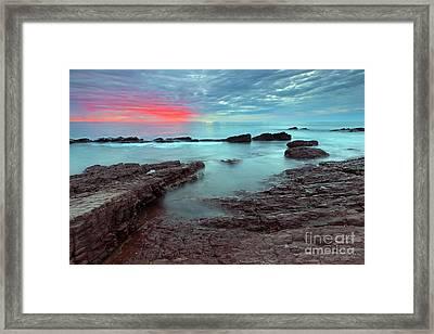 Hallett Cove Sunset Framed Print by Bill  Robinson