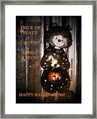 Halloween Card Framed Print by Donatella Muggianu