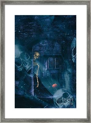 Halloween Double Exposure Framed Print by Amanda Elwell