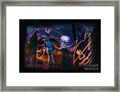 Halloween Ghost Party Framed Print by Charline Xia