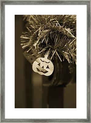 Halloween Greetings Framed Print by Marianna Mills