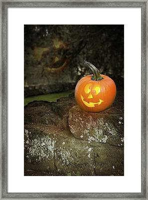 Halloween Jack O Lanterns Framed Print by Amanda Elwell
