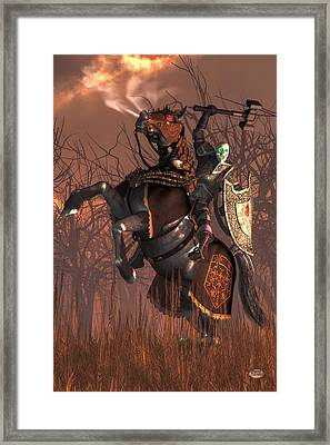 Halloween Knight Framed Print by Daniel Eskridge