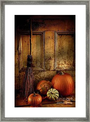 Halloween Night Framed Print by Sandra Cunningham