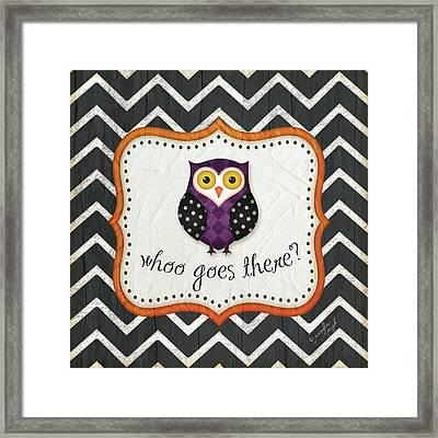 Halloween Owl Framed Print by Jennifer Pugh