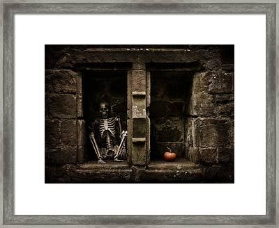 Halloween Skeleton Framed Print by Amanda And Christopher Elwell
