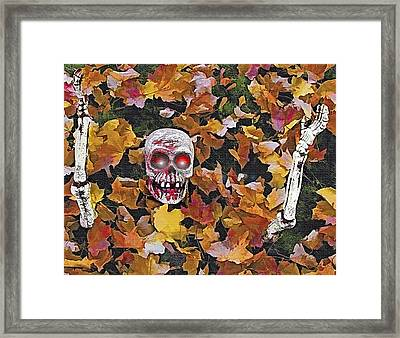 Halloween Skeleton Framed Print by Steve Ohlsen