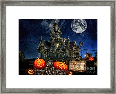 Halloween Spot Framed Print by Mo T