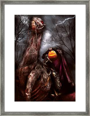 Halloween - The Headless Horseman Framed Print by Mike Savad