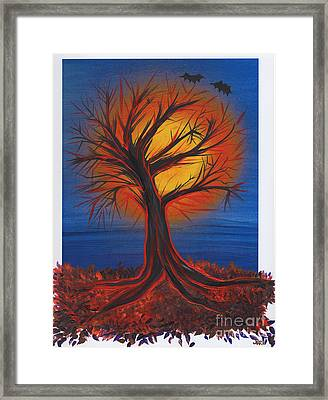 Halloween Tree By Jrr Framed Print by First Star Art