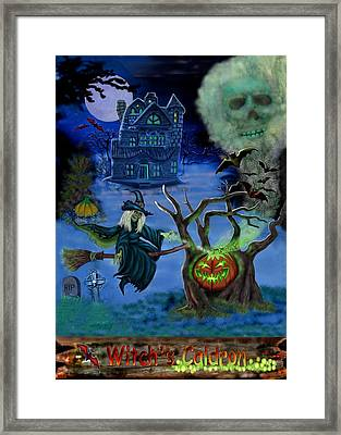 Halloween Witch's Coldron Framed Print by Glenn Holbrook