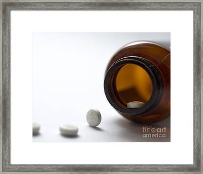 Haloperidol Tablets And Bottle Framed Print by Robert Brook